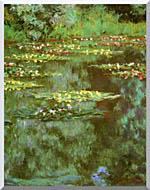 Claude Monet Nympheas 1906 Portrait Detail stretched canvas art