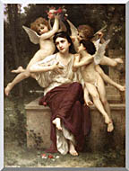 William Bouguereau A Dream Of Spring stretched canvas art