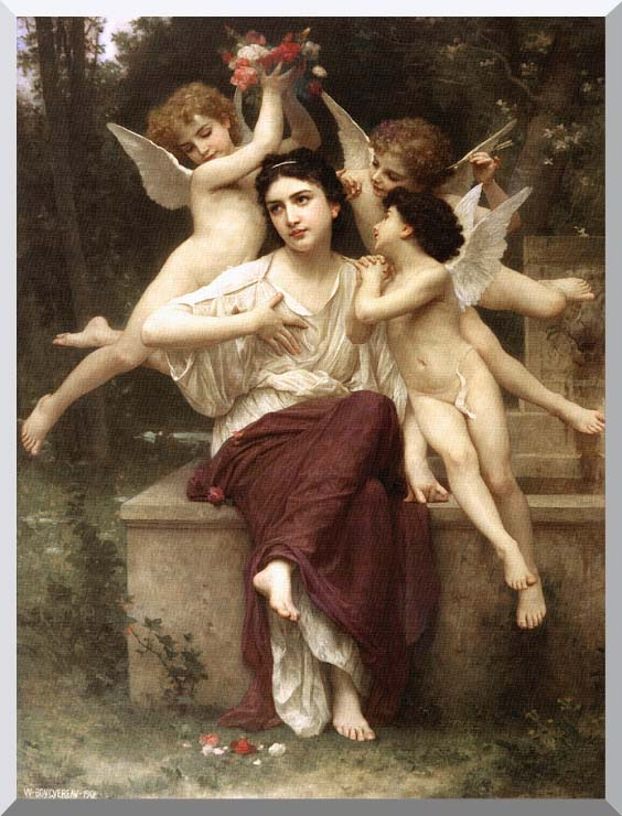 William Bouguereau A Dream of Spring stretched canvas art print
