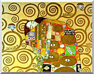 Gustav Klimt Fulfillment Close Up Detail stretched canvas art