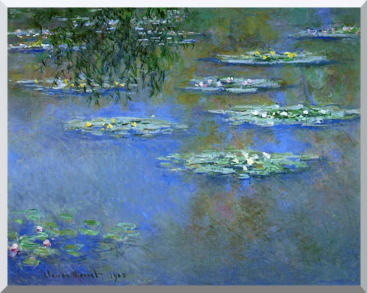 Claude Monet Water Lilies 1903 stretched canvas art print