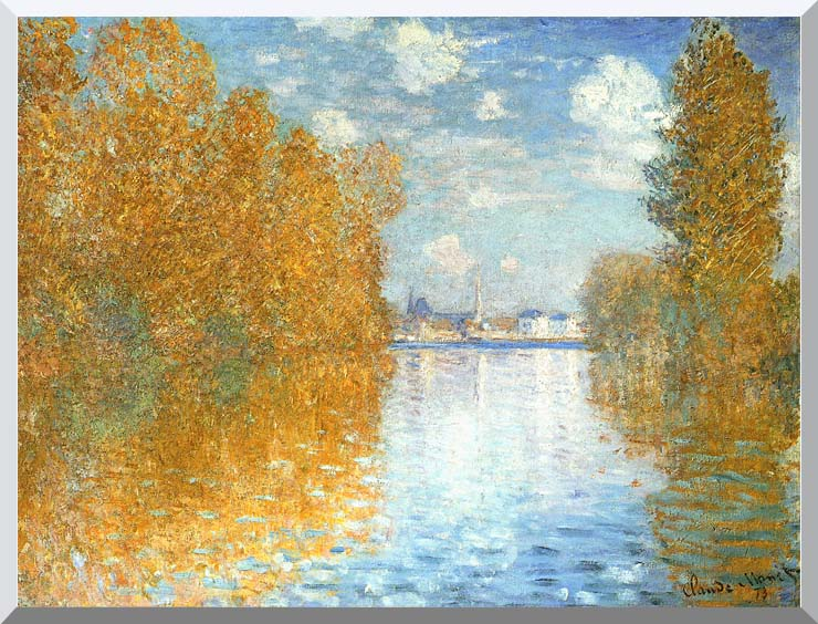 Claude Monet The Seine at Argenteuil, Autumn Effect stretched canvas art print