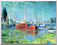 Claude Monet Red Boats Argenteuil stretched canvas art