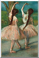 Edgar Degas Dancers In Pink stretched canvas art