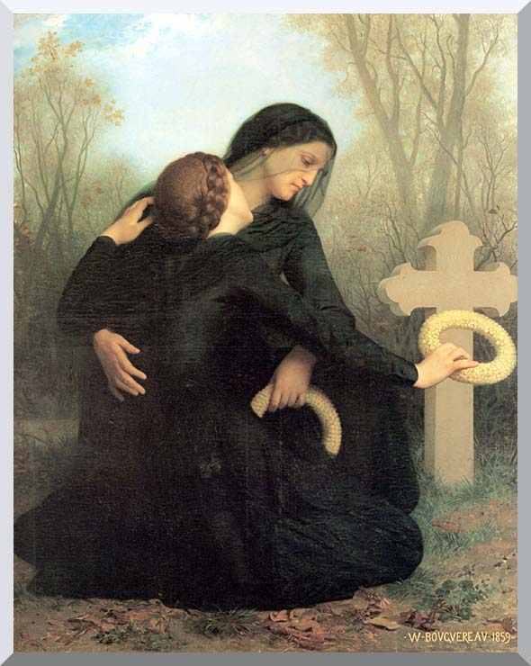 William Bouguereau All Saint's Day stretched canvas art print