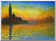 Claude Monet San Giorgio Maggiore At Dusk Venice stretched canvas art