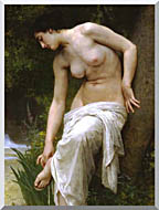 William Bouguereau Woman After The Bath stretched canvas art