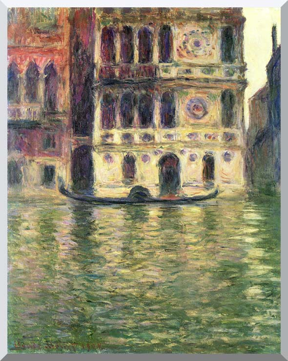 Claude Monet Palazzo Dario stretched canvas art print