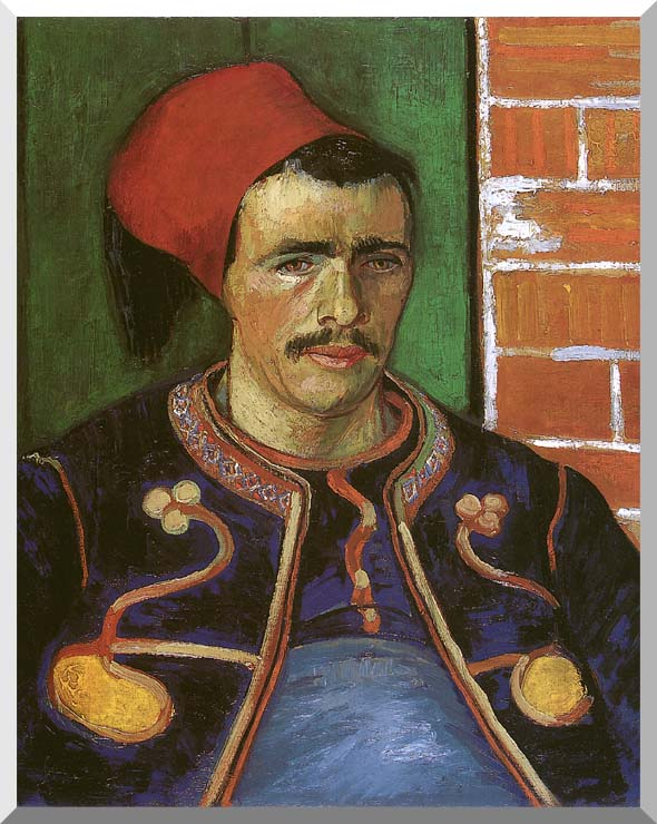 Vincent van Gogh The Zouave stretched canvas art print