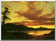 Frederic Edwin Church Sunset Detail stretched canvas art