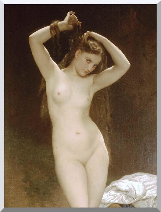 William Bouguereau Bather stretched canvas art print