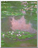 Claude Monet Water Lilies 1905 Portrait Detail stretched canvas art