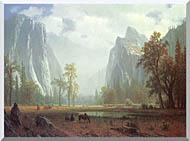 Albert Bierstadt Looking Up The Yosemite Valley Detail stretched canvas art