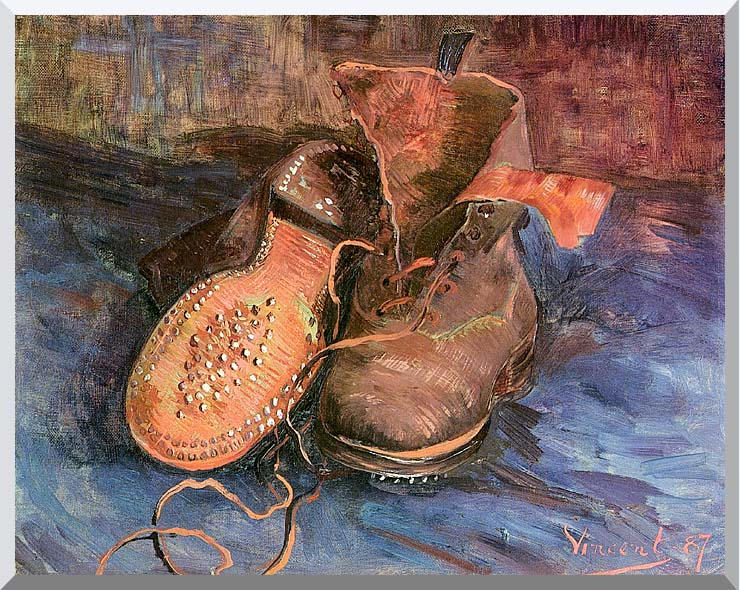 Vincent van Gogh A Pair of Shoes stretched canvas art print