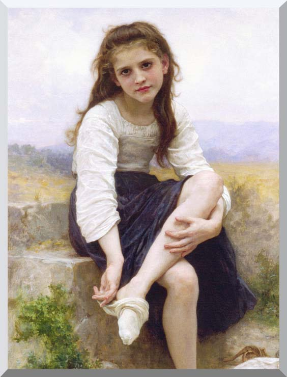 William Bouguereau Before the Bath stretched canvas art print