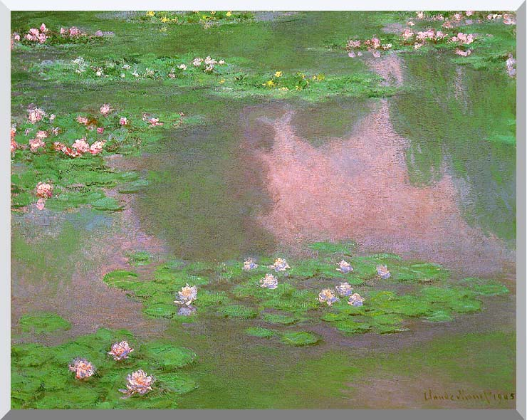 Claude Monet Water-Lilies 1905 (detail) stretched canvas art print