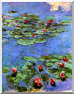 Claude Monet Water Lilies 1914 stretched canvas art