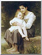William Bouguereau Big Sister stretched canvas art