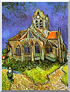 Vincent Van Gogh The Church At Auvers stretched canvas art