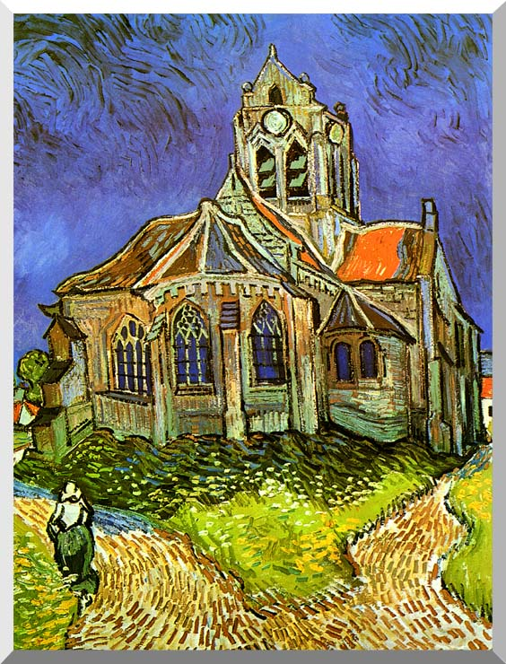 Vincent van Gogh The Church at Auvers stretched canvas art print