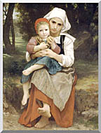 William Bouguereau Breton Brother And Sister stretched canvas art