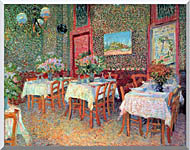 Vincent Van Gogh Interior Of A Restaurant stretched canvas art