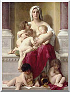 William Bouguereau Charity stretched canvas art