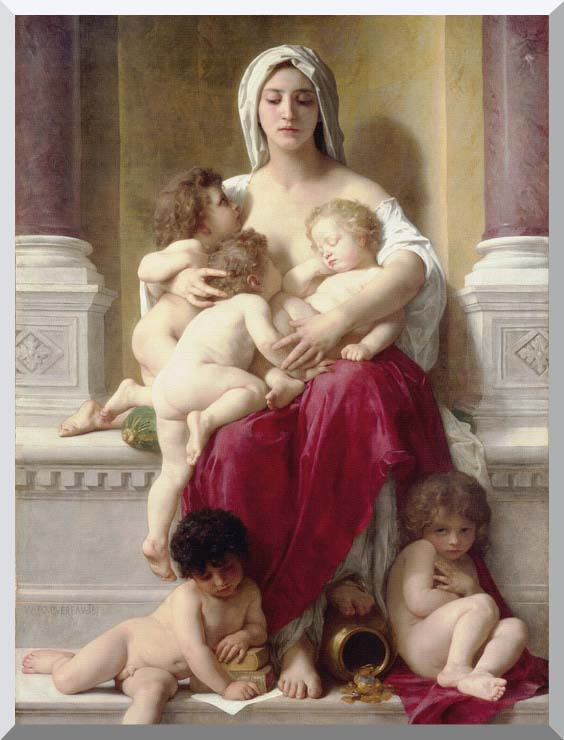 William Bouguereau Charity stretched canvas art print