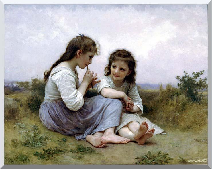 William Bouguereau Childhood Idyll stretched canvas art print