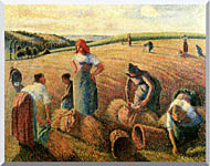 Camille Pissarro The Gleaners stretched canvas art