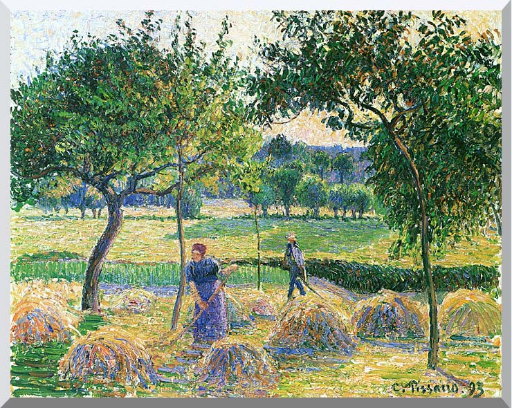 Camille Pissarro Bountiful Harvest stretched canvas art print