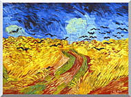 Vincent Van Gogh Wheat Field With Crows Detail stretched canvas art