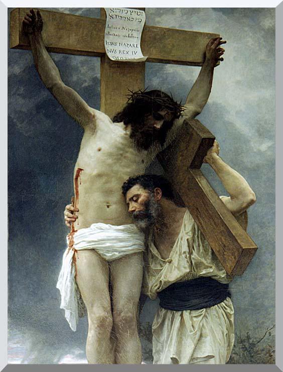 William Bouguereau Compassion stretched canvas art print