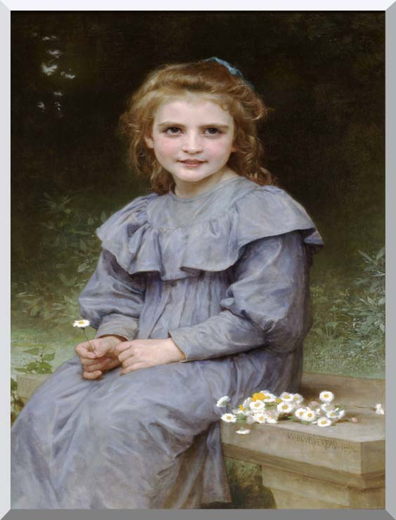 William Bouguereau Daisies stretched canvas art print