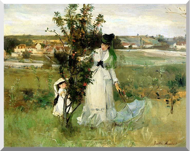 Berthe Morisot Hide and Seek stretched canvas art print