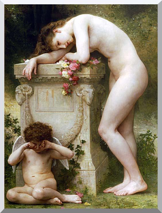 William Bouguereau Elegy stretched canvas art print