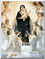 William Bouguereau The Virgin With Angels stretched canvas art