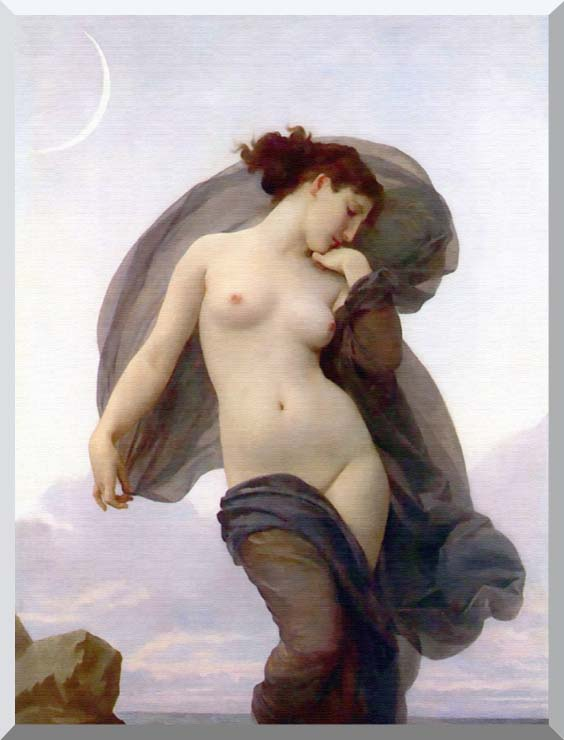 William Bouguereau Evening Mood stretched canvas art print