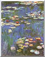 Claude Monet Water Lilies 1916 Portrait Detail stretched canvas art
