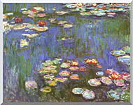 Claude Monet Water Lilies 1916 Detail stretched canvas art