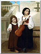 William Bouguereau Far From Home stretched canvas art