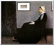 James Abbott McNeill Whistler Arrangement In Grey And Black Portrait Of The Artists Mother stretched canvas art