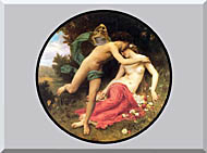 William Bouguereau Flora And Zephyr stretched canvas art