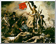 Eugene Delacroix Liberty Leading The People stretched canvas art