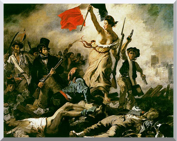 Eugene Delacroix Liberty Leading the People stretched canvas art print