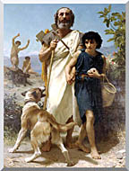 William Bouguereau Homer And His Guide stretched canvas art