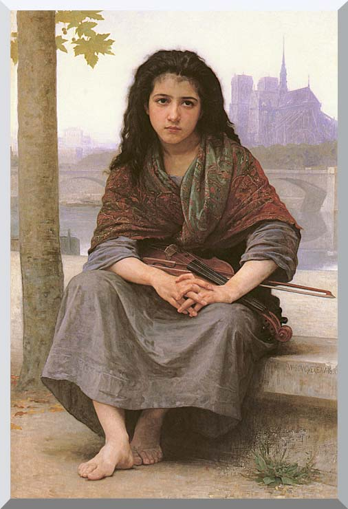 William Bouguereau The Bohemian stretched canvas art print