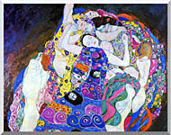 Gustav Klimt The Virgin Detail stretched canvas art