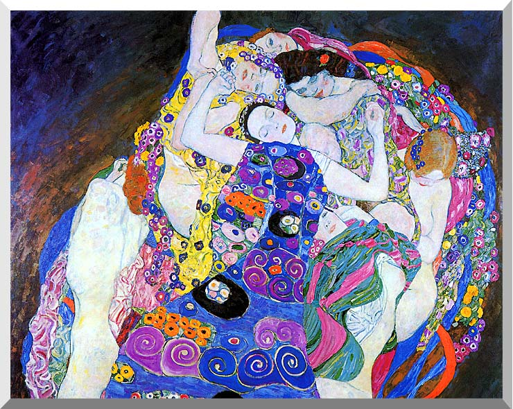 Gustav Klimt The Virgin (detail) stretched canvas art print