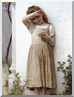 William Bouguereau In Penitence stretched canvas art